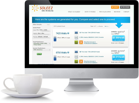 Instantly shop solar online